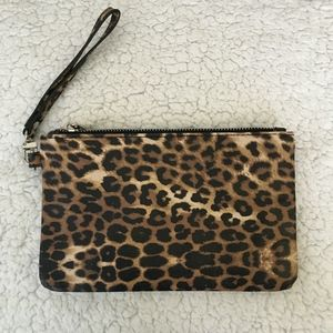 Express Leopard Animal Print Wristlet